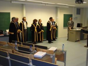 Loïc Nicolas et les membres de son jury