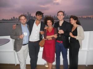 Benoît Sans, Victor Ferry, Emmanuelle Danblon, Loïc Nicolas, Roberta Zagarella (à Chicago)